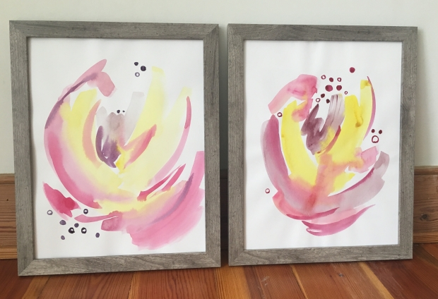 Watercolor flowers 1 and 2